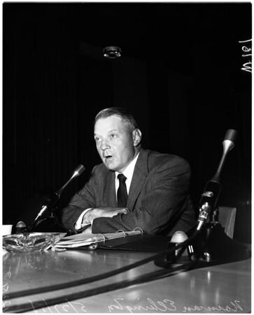 Narcotic hearing, 1958