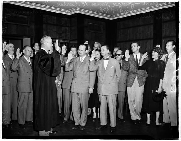 American Federation of Radio Artists Directors Take Loyalty Oath, 1951
