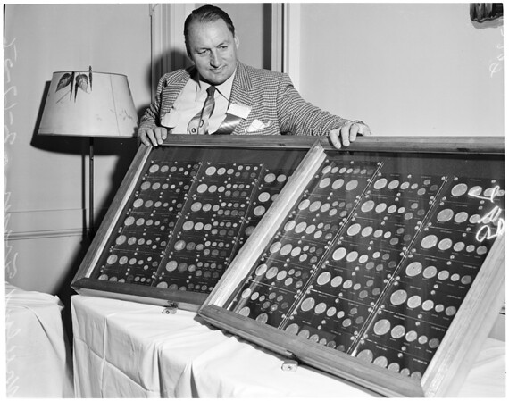 Coin exhibit, 1956