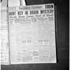 Copies of headlines for Ben Woolbert, 1952