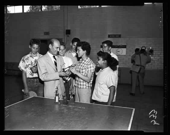 Table tennis tournament, 1955