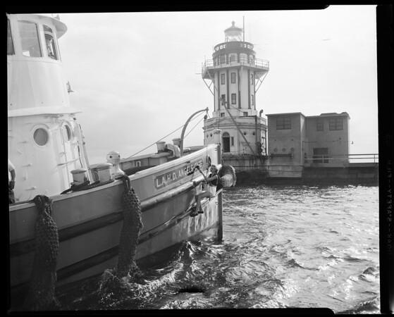 """Tugboat No. 10 (New Name """"Angel's Gate""""), 1955"""