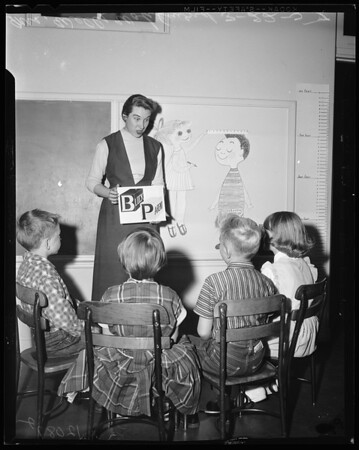 PTA block parents for schools safety, 1957