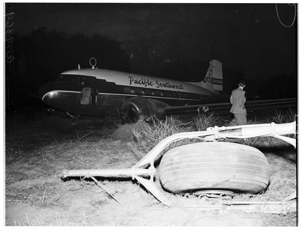 Plane crash North Hollywood (Valhalla), 1951