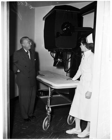 Dedication of new $550,000 addition Hawthorne Community Hospital, 1954