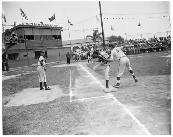 Little League Baseball, Visalia vs. Stockton,  1955