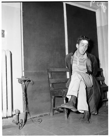 Psychopathic burglar, 1957