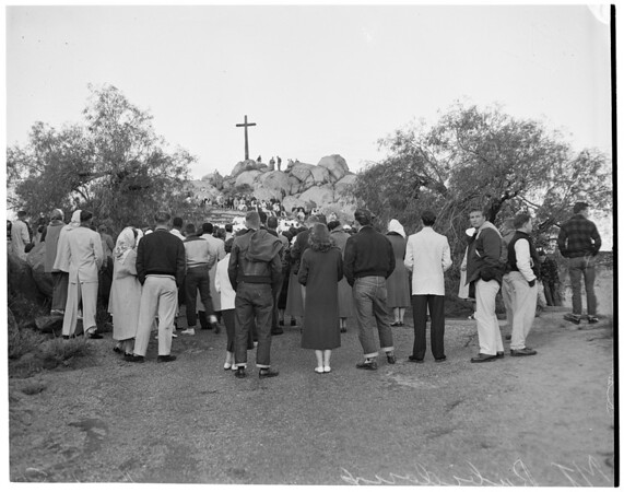 Easter Sunrise Services at Mount Rubidoux, 1957