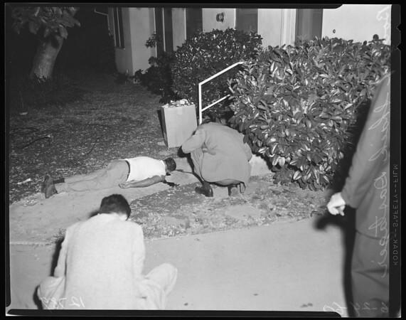 Shooting murder at 13944 Valerio Street, Van Nuys, 1960