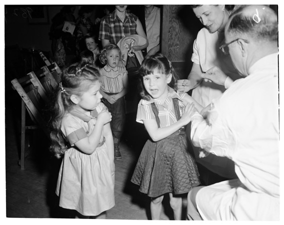 School vaccination, Harbor City Elementary School, 1953