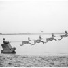 Speed boat rodeo Santa Claus stunt, 1955
