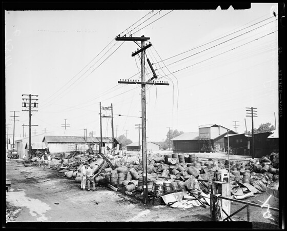 Chemical fire, North Pomona, 1954