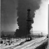 Hancock refinery fire in Signal Hill, 1958