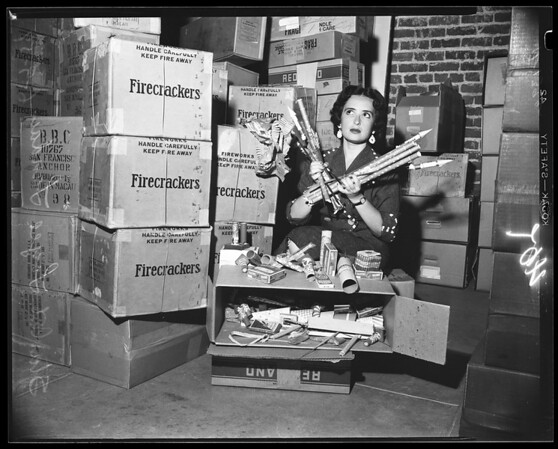 Fire works -- confiscated, 1954