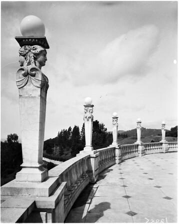 San Simeon California state park (black and white), 1958