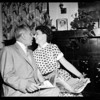 Governor Knight and bride-to-be Mrs. Virginia Carlson, 1954