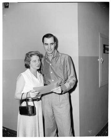 Wedding license, 1954