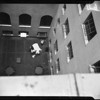 Leaper at Hall of Justice, 1954