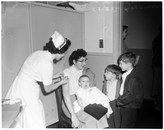 Navy's Salk vaccine shots, 1957