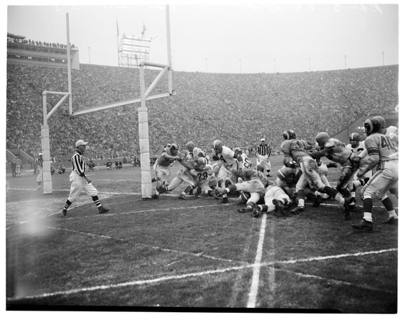 Rams versus Cleveland Browns, 1955