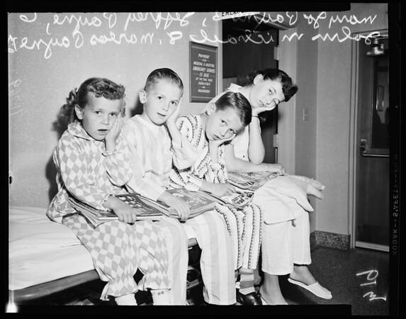 Four children in same family undergo tonsillectomy, 1956