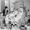 Circus at crippled children's Shrine Hospital, 1954