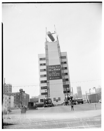 Water tank, 1954