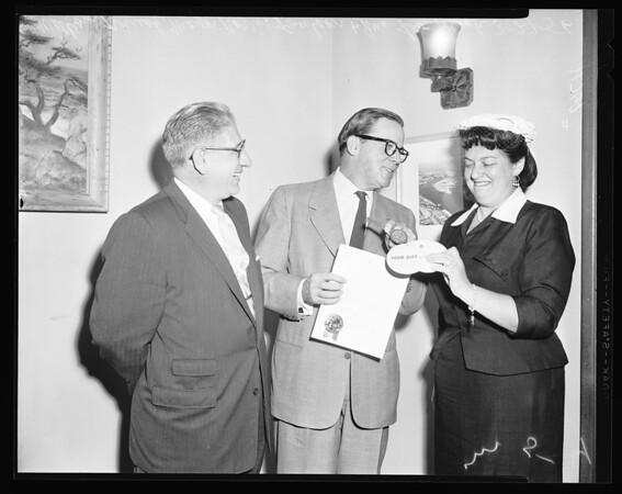 Jewish Welfare Week proclamation, 1956