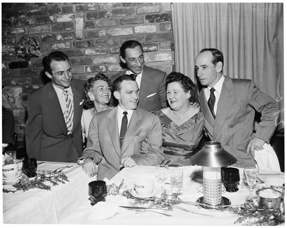 George Wolf memorial dinner, 1957