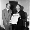 Presentation of 50th Examiner Anniversary Resolution, 1954