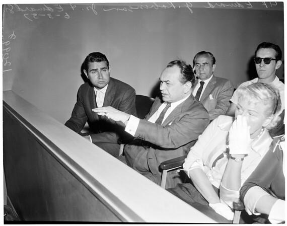 Edward G. Robinson, Junior sentenced, 1957