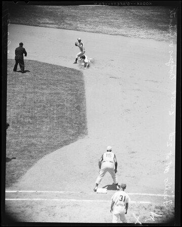 Baseball -- Dodgers versus Redlegs, 1958
