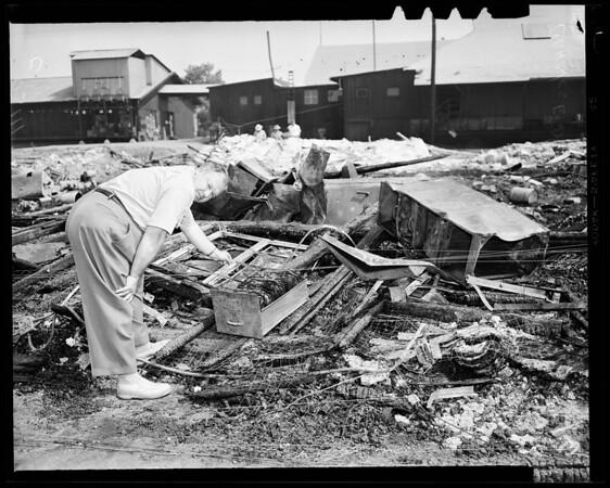 Chemical fire, North Pomona, 1954