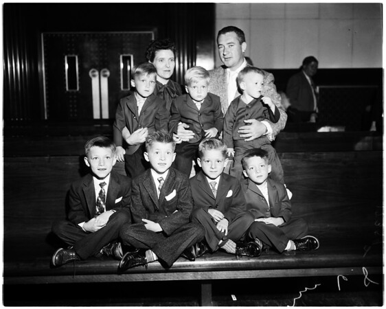 The Saint Onge family, 1958