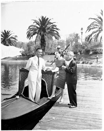 Gondola on MacArthur Park Lake, 1955