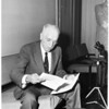 Dr. Paul Dudley White (heart specialist), 1956