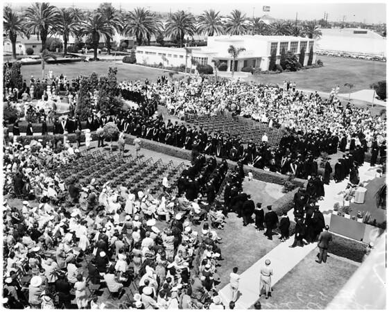 Pepperdine graduation, 1958