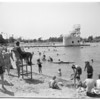 Night bathing at Colorado Lagoon (Long Beach), 1952