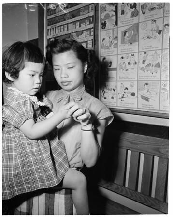 Rabies shots, 1953