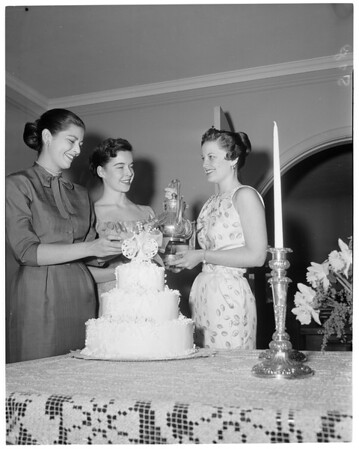 Coronets planning tea, 1957