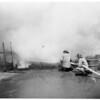 Fire at Cardinal of California at 14800 Oxnard Street, Van Nuys, 1955