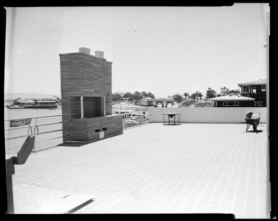 Newport-Balboa Savings and Loan  Association opening, 1954