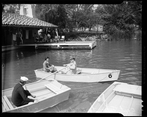 Naval hospital rowboats (Whittier, Inglewood and Pomona Naval Mothers Clubs), 1954
