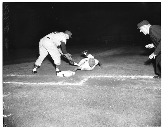 Hollywood vs. Los Angeles Baseball,  1955