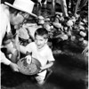 Mock gold panning (Placerita Canyon), 1958