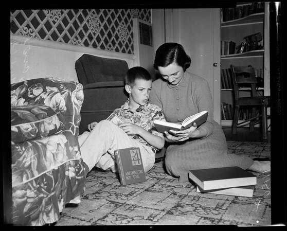 War widow UCLA (1303 North Beverly Glen), 1954