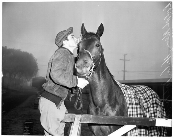 Santa Anita entries for opening day, 1955