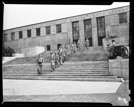 Marines leaving, 1954