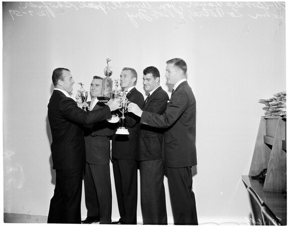 Los Angeles Rams football awards at Beverly Hilton, 1959