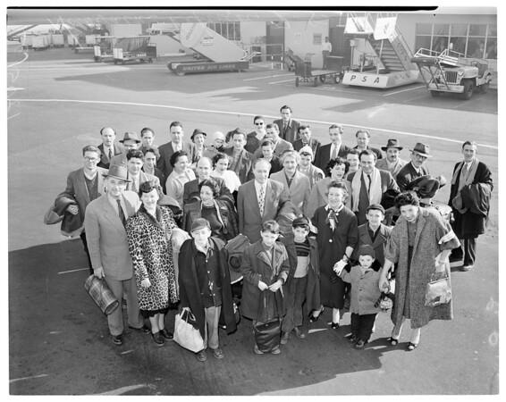 Hungarian refugees, 1957